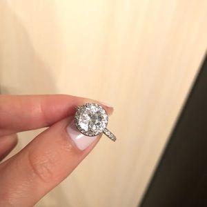 Zirconia Crystal Diamond Ring